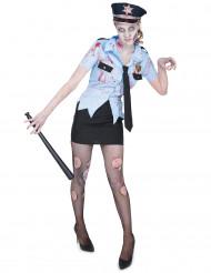 Déguisement policière zombifiée femme