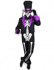 Déguisement Dia de Los Muertos violet homme