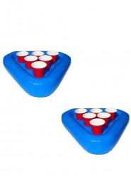 Kit de Beer pong gonflable et flottant pour piscine