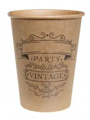 10 Gobelets en carton vintage