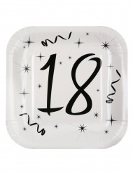 10 Assiettes en carton âge 18 ans 23 cm