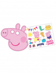 Pack 6 masques Peppa Pig & autocollants