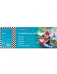 20 Cartes d'invitation (italien) Super Mario ™