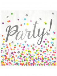 16 Serviettes en papier Party 33 x 33 cm