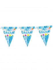 Guirlande bleue fanions Buon compleanno 29 x 360 cm