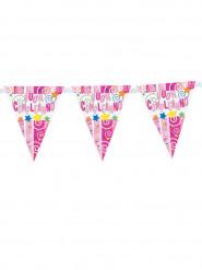Guirlande plastique buon compleanno 29 x 360 cm rose