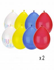 16 Ballons latex auguri