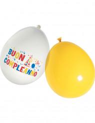 16 Ballons latex buon compleanno