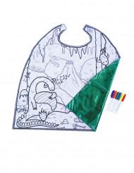 Cape lavable réversible à colorier dragon garçon