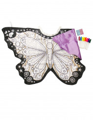 Ailes papillon lavable à colorier avec faux diamants fille