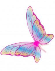 Ailes papillon roses avec paillettes fille