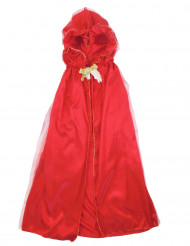 Cape luxe rouge fille