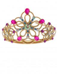 Couronne princesse dorée multicolore fille