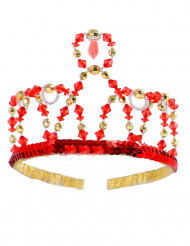 Couronne princesse rouge fille