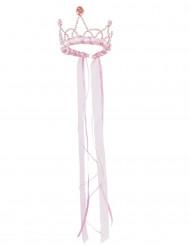 Couronne reine médiévale rose pale fille