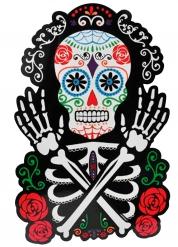 Décoration murale Squelette coloré Dia de los muertos 38 x 25 cm