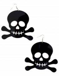 Boucles d'oreilles noires pirate géantes adulte