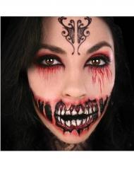 Tatouage ephémere grand sourire démoniaque adulte