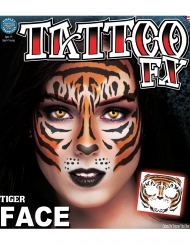 Tatouage ephémere visage tigre  adulte