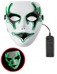 Masque fantôme lumineux vert adulte