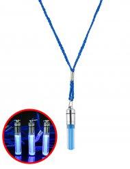 Collier lumineux bleu 5 cm