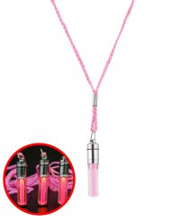 Collier lumineux rose 5 cm