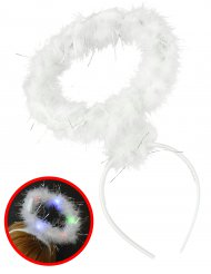Serre-tête auréole ange lumineux adulte