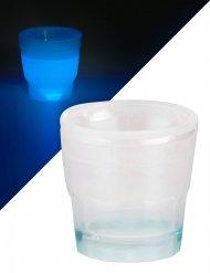 Verre à shooter lumineux bleu 50 ml