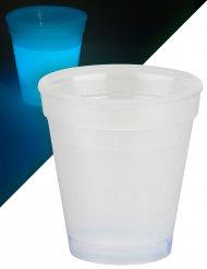 Verre lumineux bleu 250 ml