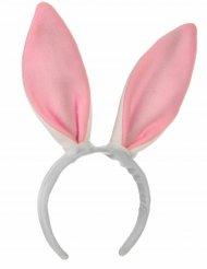 Serre-tête oreilles roses de lapin enfant