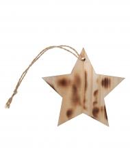 4 Marque-places étoile effet brûlé