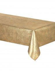 Rouleau nappe rectangulaire métalisée dorée 5 mètres