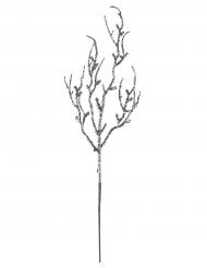 Branche pailletée argenté 9,5 x 35 cm