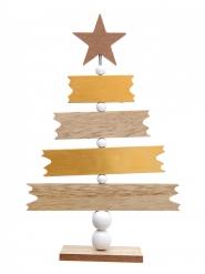 Arbre en bois message de Noël 22 cm