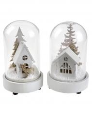 Boule à neige en verre lumineuse modèle aléatoire 11.5 cm
