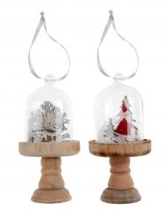Suspension en verre boule de Noël modèle aléatoire