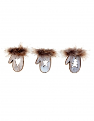 3 Petites moufles autocollantes 7.5 x 8 cm
