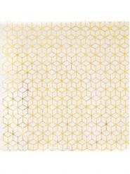 20 Serviettes en papier or 25 x 25 cm