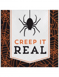 16 Serviettes en papier Halloween Creep it real 33 x 33 cm
