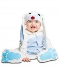 Déguisement petit lapin bleu avec sucette luxe bébé