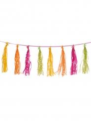 Guirlande pompons tassels multicolores 3m