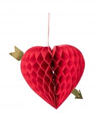 Décoration à suspendre coeur alvéolé 20 cm