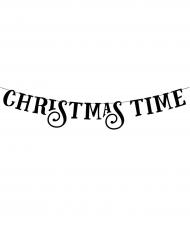 Guirlande bannière Christmas Time noire 80 cm