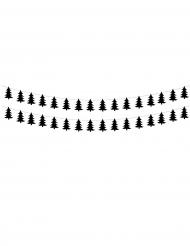 2 Guirlandes sapins de Noël noir 180 cm