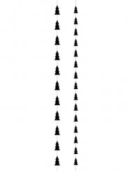 2 Suspensions sapins de noël noir 180 cm