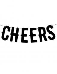 Guirlande bannière Cheers noire 50cm