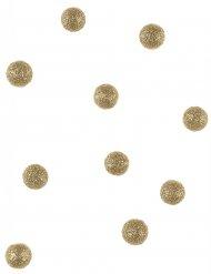 40 Boules de décoration pailletées or 12 mm