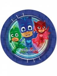 8 Assiettes en carton bleu Pyjamasques ™ 23 cm