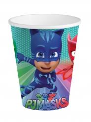 8 Gobelets en carton bleu Pyjamasques ™ 25 cl