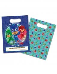 16 Sacs cadeaux bleus Pyjamasques ™ 16,5 x 23 cm